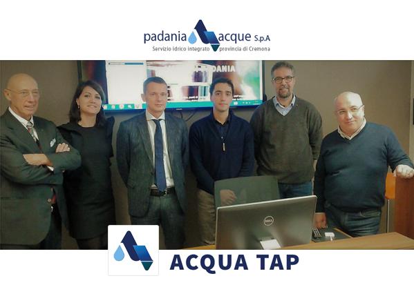 Padania Acque S.p.A. è anche mobile, con Acqua Tap.