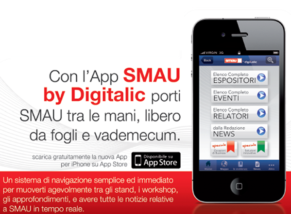 SMAU BOLOGNA 2012, rilasciata l'app ufficiale