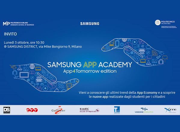 Samsung APP Academy – Xonne è Partner di Samsung e del Politecnico di Milano