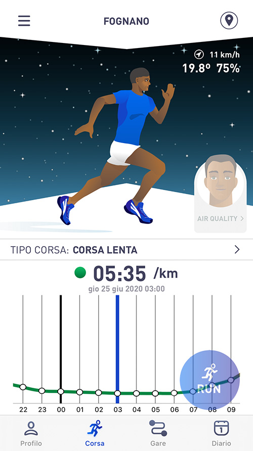 RunBull - Corsa