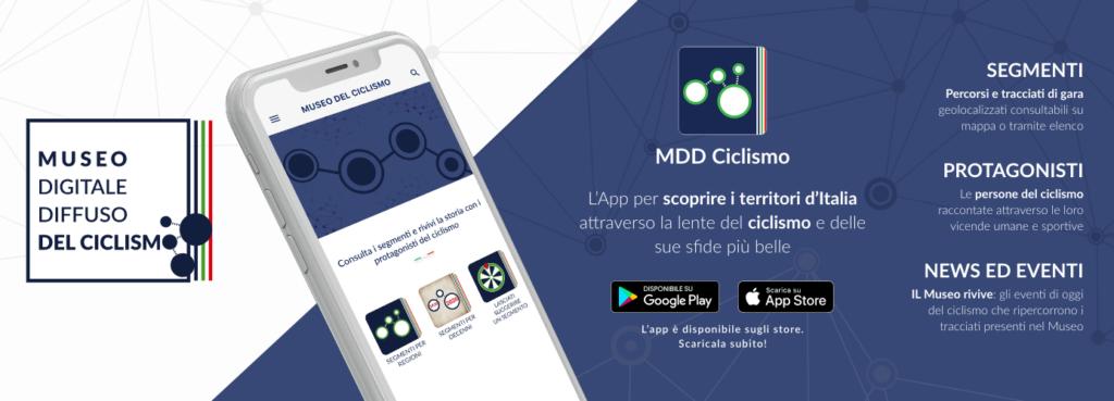 MDD Ciclismo, l'app per il Museo Digitale Diffuso del Ciclismo Italiano