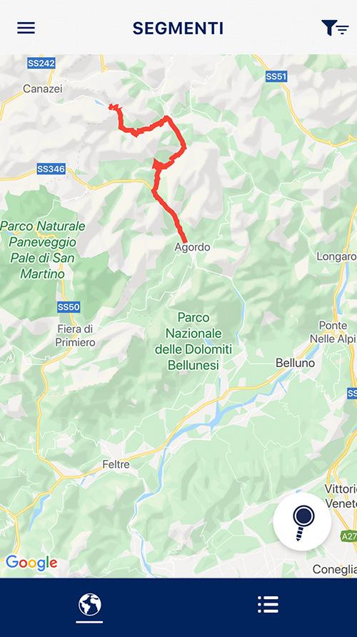 Segmenti - View Mappa percorso GPX